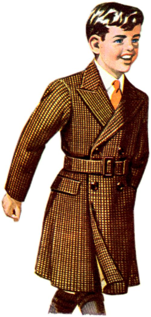 D.B. Belted Woollen Tweed Overcoat