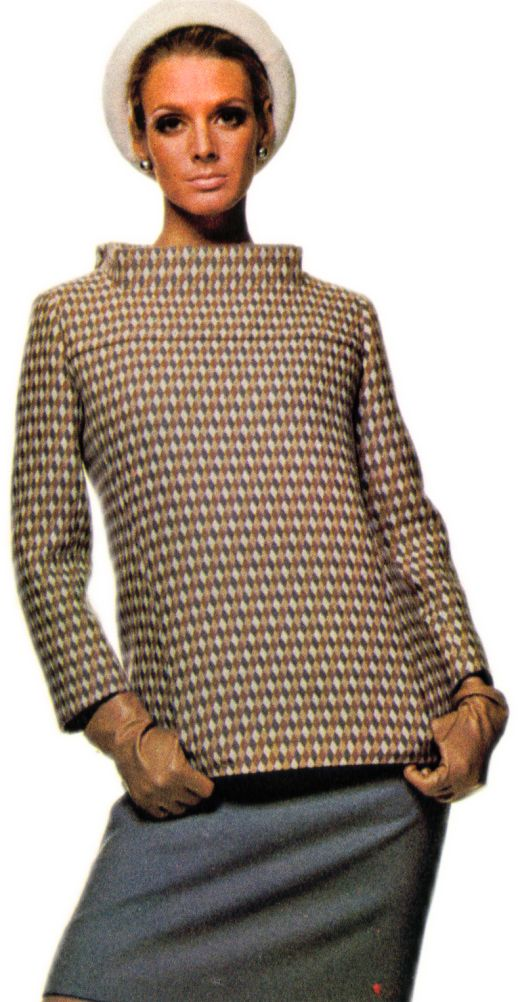 Laroche Tunic Top with Pillbox Collar