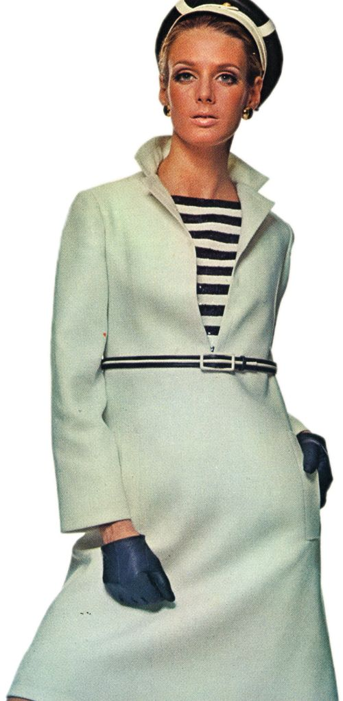 Yves Saint Laurent A-Line Sailor Dress