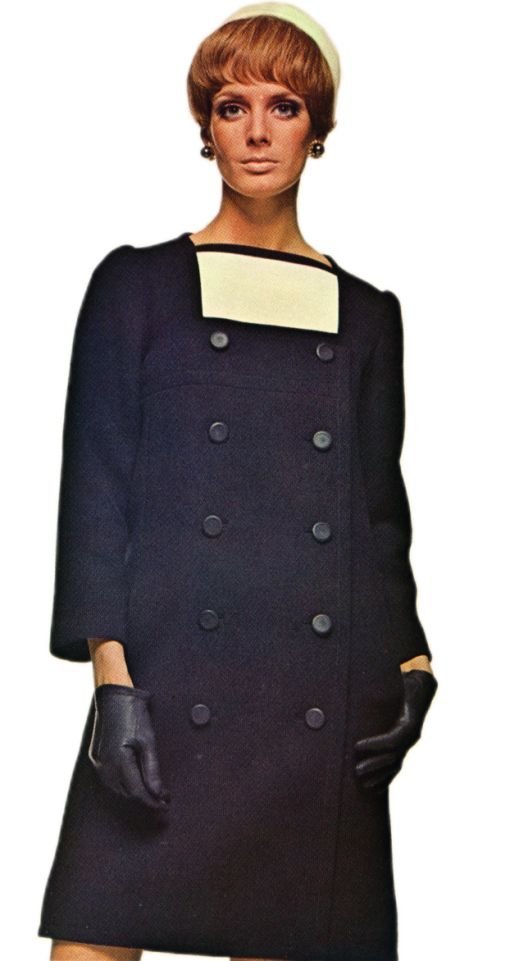 Yves Saint Laurent Square-Necked Coat Dress
