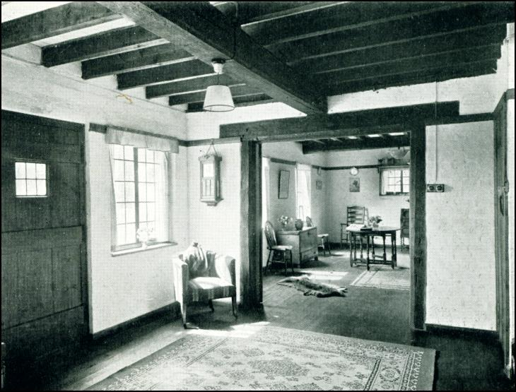View in hall looking into living room