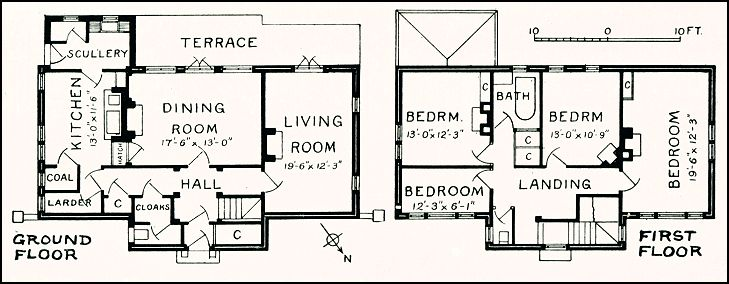 1930 39 s housing house at chesham bios for 1930s house plans