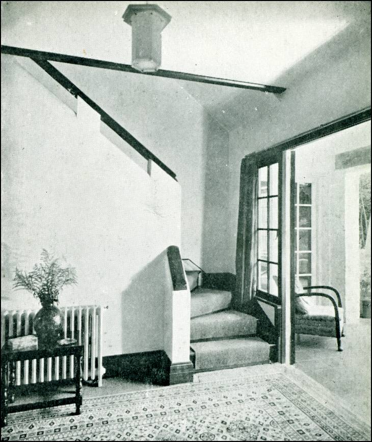Hall, staircase and loggia