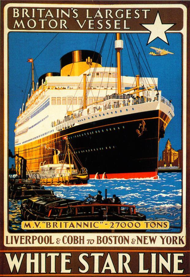 Retro Image White Star Line