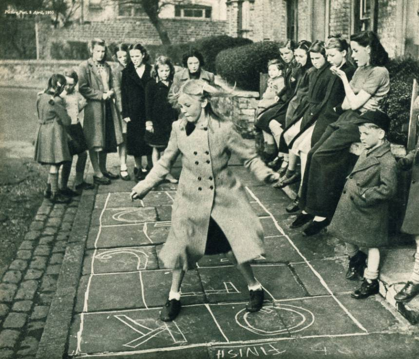 One of the Fixed Festivals of Town Life: The Opening of the Hopscotch Season