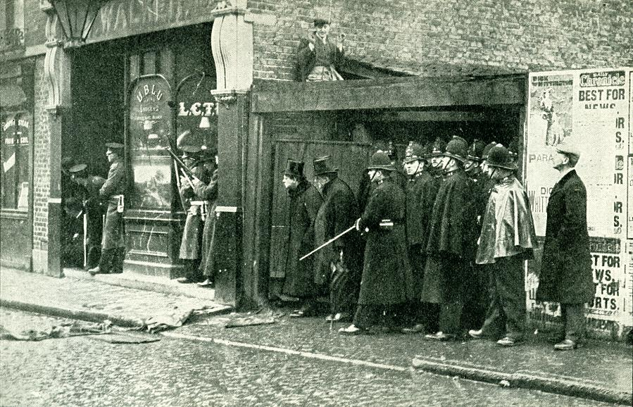 The famous siege of Sidney Street, Jan 1911