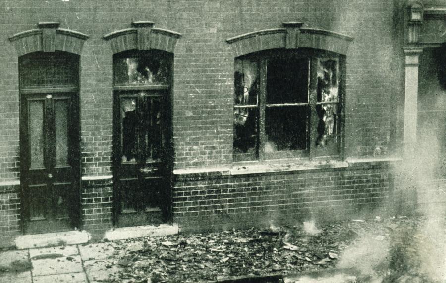The famous siege of Sidney Street, Jan 1911